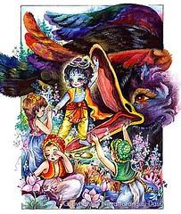 Krishna and Bakasura - ISKCON desire tree (ISKCON Desire Tree) Tags: demon krishna radha vrndavana balaram iskcon putana devaki radharani kamsa bakasura aghasura