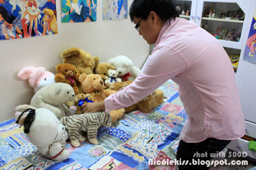 setting up teddies