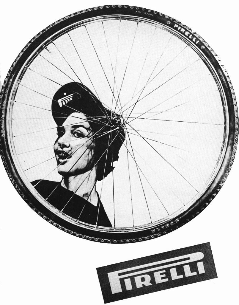 "Pirelli ""Stella"" tire   1952 poster detail"