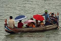 Boat trip  in Amarapura. (Bertrand Linet) Tags: asia southeastasia burma transport culture myanmar cultural birmanie birmania bertrandlinet