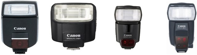 Canon Speedlite flash units for the PowerShot G12