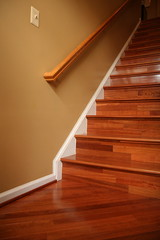 Flooring Project - Stairs Landing in Diagonal