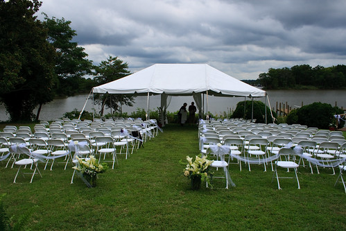 The Area for the Ceremony and some Rain Clouds