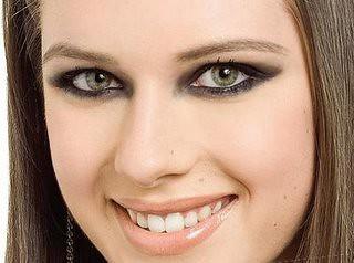 maquiagem : olhos esfumados