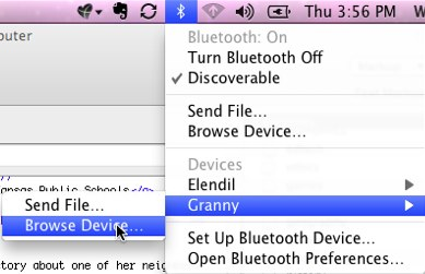 Bluetooth browse device on a Mac