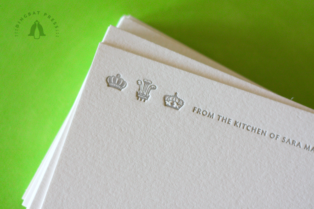 Royalty Personalized Recipe Cards