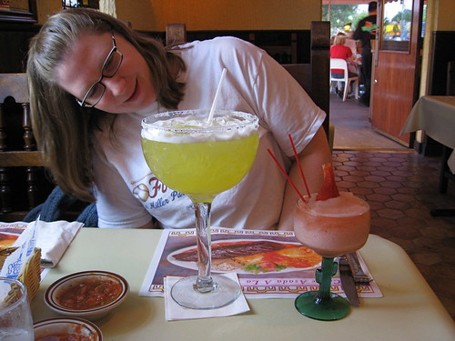 Margarita time with Zoe