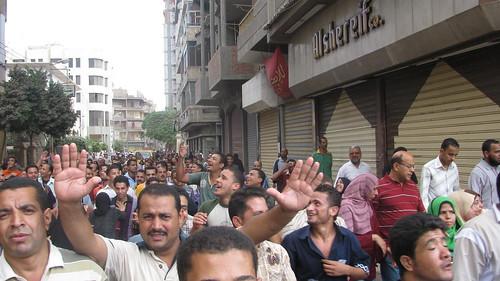 مظاهرة عمال شركة ابوالسباع فى المحلة by you.