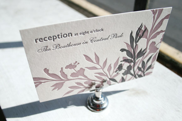 Smock Design Contest Honoree - Engadine Letterpress Reception Card