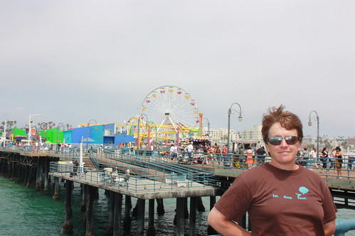 Pauline on Santa Monica Pier
