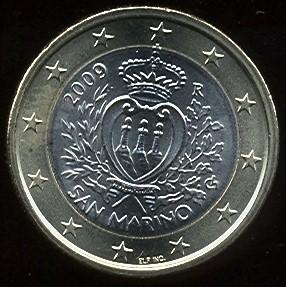 1 euro San Marino 2009