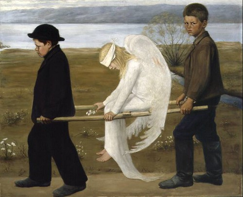 The Wounded Angel from 1903 Hugo Simberg