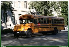 "Blue Bird School Bus ""Supertrans"" (uslovig) Tags: usa ny newyork unitedstatesofamerica vereinigtestaatenvonamerika supertrans manhattenbuscoachschoolbusbluebirdinternational"