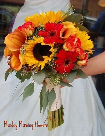 Kimberly Kardashian BLOG: Sunflower Bouquets For Weddings