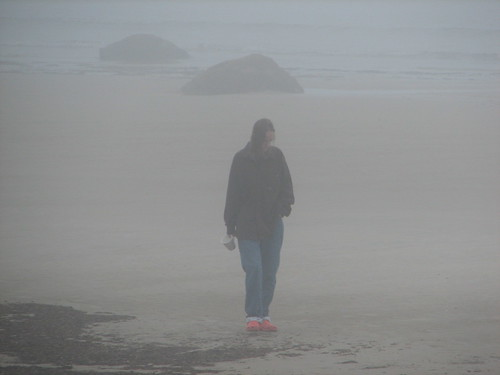 beachwalk in the fog