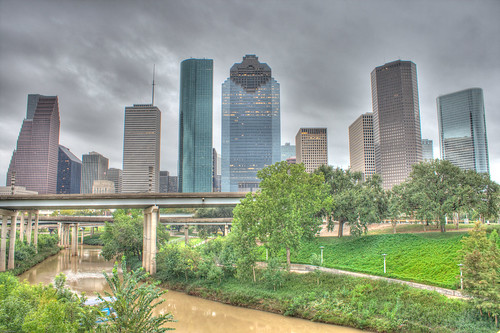 Houston Downtown Evening HDR