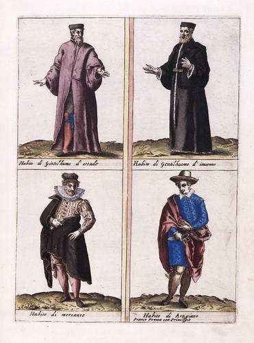 011- Vestimentas distintos personajes venecianos-Habiti d'hvomeni et donne venetiane 1609