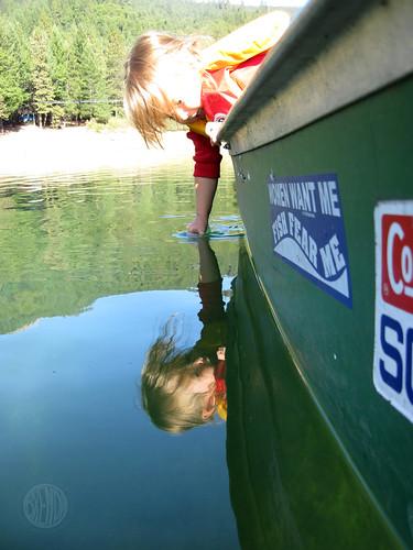 touching the lake