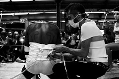 Klash performance by Klodia and Cheerleaders 69 (02) - Tattoo Art Fest (219) - 18-20Sep09, Paris (France) (°]°) Tags: show blackandwhite bw 3 man art tattoo ink cheerleaders mask noiretblanc tube performance rope nb ring convention salon 69 fest bodyart yourself punish homme masque encre spectacle corde tatouage klash punishyourself klodia tattooartfest tattooartfest3 cheerleaders69