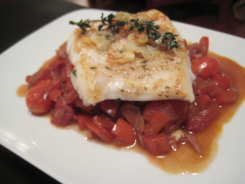 Halibut Basquaise