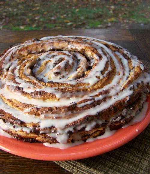 Orange Cinnamon-Raisin Swirl Coffee Cake