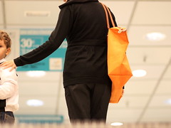 move on up (jenny downing) Tags: orange blur up shopping bag spain bright candid escalator alicante shoppingbag shopper movingstaircase goingup movingstairs tangerinedream orangebag headlesswoman foregroundblur jennypics moveonup jennydowning andhalfachild photobyjennydowning