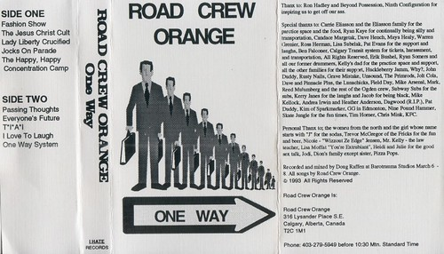 Road Crew Orange - One Way