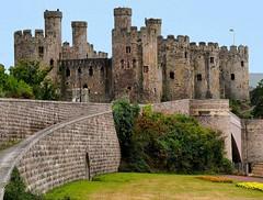 Conwy Castle (saxonfenken) Tags: castle stone wales towers superhero walls thumbsup bushes sb conwy 133 bigmomma challengeyouwinner challengewinner a3b thechallengefactory yourock1st storybookwinner fiendlychallenge pregamesweepwinner pregameduelwinner 133house