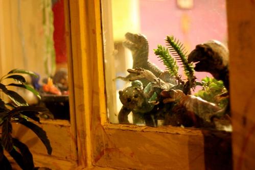 Tuesday: Dinosaurs &a teddybear in Eastbourne