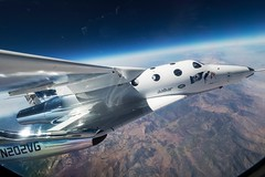 The VMS Eve (Virgin Mother Ship) carries VSS Unity (Virgin Spaceship) for its first flight ever, Mojave, CA, Thursday September 8, 2016. (Images for sharing in Spacechats) Tags: privatespaceenterprises richa sirrichardbranson spaceship