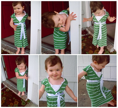 Shirt Refashion to Toddler Dress-After