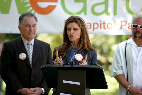 "Maria Shriver Talks at ""We Garden"" Sacramento Capitol Event"