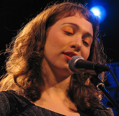 the blue light shines on regina...regina spektor redux #1 (jmtimages) Tags: november portrait music woman night austin concert texas outdoor live singer stubbs 2007 reginaspektor