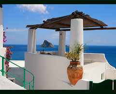 Panarea - Aeolian Islands - Isole Eolie (Angelo Bosco) Tags: blue sea sky holidays mediterranean mediterraneo mare blu vacanze aeolianislands panarea isoleeolie abigfave colourednotes angelobosco