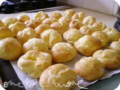 baked choux puffs