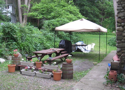 Yard set up for summer at Seneca Lake