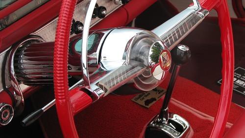 red car interior