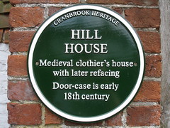 Photo of Hill House green plaque