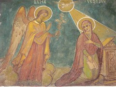 The Annunciation Bucharest (seorial2) Tags: gabriel angel catholic historic christian angels romania bible virginmary angelgabriel orthodox oldchurch fresco bucharest easterneurope bucuresti romanian roumanie saintmary bucarest blessedvirginmary christianart virginbirth rumanien theannunciation motherofjesus churchofthedormition