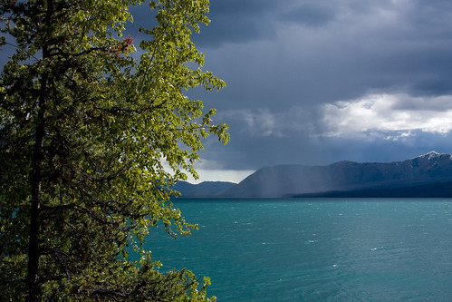 Rain Shower over Lake McDonald