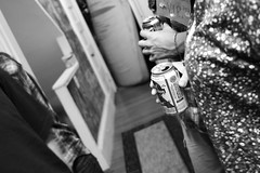 (morgan.laforge) Tags: party blackandwhite hands pabst