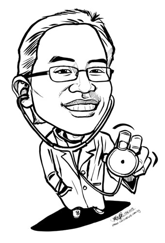 Doctor caricature 140609 - 2