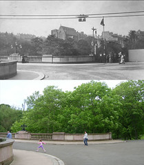 Cable car then and now (Dave S Campbell) Tags: park old west university circus glasgow exhibition end then now kelvingrove