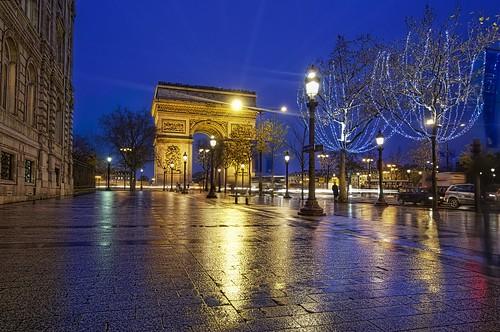 Le Arc de Triumph from the Champs-Élysées