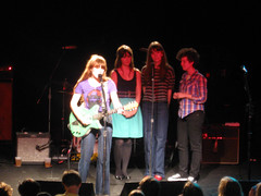 Holy crap! Zooey Deschanel joins Jenny Lewis on stage! (Awkward Boy Hero) Tags: rock oregon portland northwest rilokiley roseland jennylewis zooey zooeydeschanel acidtongue sheandhim shehim zooeydeschannel tryingmybesttoloveyou awkwardboyhero