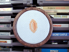 Coin (benjibot) Tags: crossstitch crafts videogames nes supermariobros