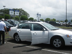 Hilo airport - our new rental - another Impala