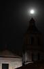 Moon parked at a church (Armando Maynez) Tags: voyage travel vacation moon church noche morelia cathedral catedral luna traveling armando michoacan vacaciones challengeyouwinner cywinner myfacebook maynez