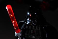 Vader's Lightsaber (pasukaru76) Tags: red starwars lego vader darthvader sigma105mm ligthsaber