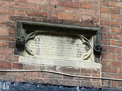 Photo of Robert Greville stone plaque